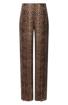 Женские шелковые брюки RALPH LAUREN коричневого цвета, арт. 290853159 | Фото 1 (Длина (брюки, джинсы): Удлиненные; Материал внешний: Шелк, Синтетический материал; Материал подклада: Шелк; Стили: Гламурный; Женское Кросс-КТ: Брюки-одежда; Силуэт Ж (брюки и джинсы): Расклешенные)