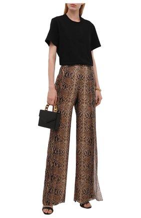 Женские шелковые брюки RALPH LAUREN коричневого цвета, арт. 290853159 | Фото 2 (Длина (брюки, джинсы): Удлиненные; Материал внешний: Шелк, Синтетический материал; Материал подклада: Шелк; Стили: Гламурный; Женское Кросс-КТ: Брюки-одежда; Силуэт Ж (брюки и джинсы): Расклешенные)