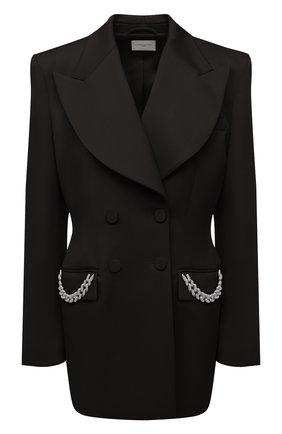 Женский шерстяной жакет GIUSEPPE DI MORABITO черного цвета, арт. PF21041JA-136 | Фото 1