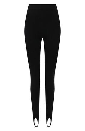 Женские леггинсы со штрипками MRZ черного цвета, арт. FW21-0035   Фото 1