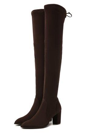 Женские замшевые ботфорты lasandra STUART WEITZMAN коричневого цвета, арт. S0109 | Фото 1