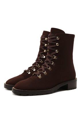 Женские замшевые ботинки kolbie STUART WEITZMAN коричневого цвета, арт. S0153 | Фото 1