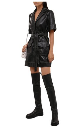 Женские кожаные ботфорты lowland STUART WEITZMAN черного цвета, арт. S5606 | Фото 2