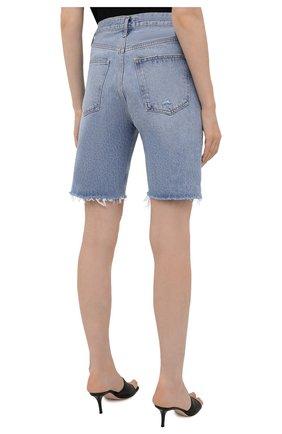 Женские джинсовые шорты AGOLDE голубого цвета, арт. A9020-811   Фото 4 (Женское Кросс-КТ: Шорты-одежда; Кросс-КТ: Деним; Длина Ж (юбки, платья, шорты): Мини; Материал внешний: Хлопок; Стили: Спорт-шик)