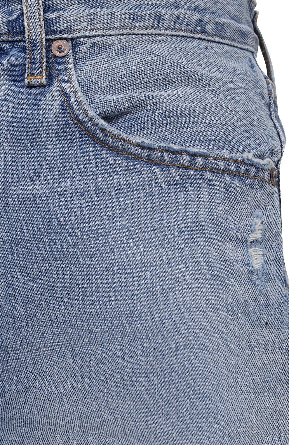 Женские джинсовые шорты AGOLDE голубого цвета, арт. A9020-811   Фото 5 (Женское Кросс-КТ: Шорты-одежда; Кросс-КТ: Деним; Длина Ж (юбки, платья, шорты): Мини; Материал внешний: Хлопок; Стили: Спорт-шик)