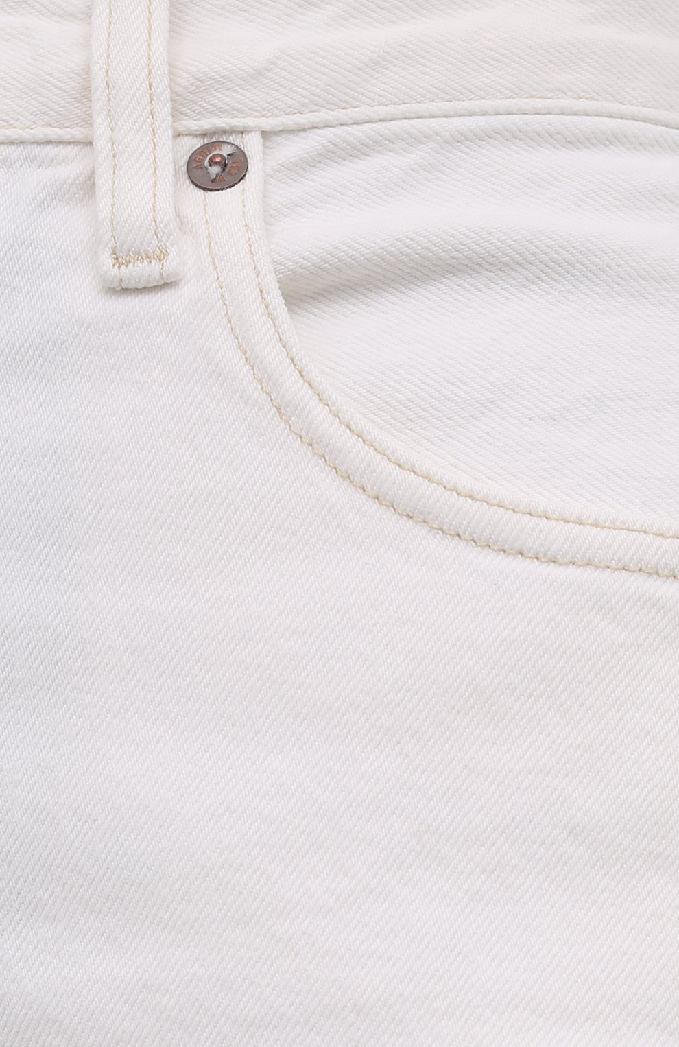 Женские джинсовые шорты AGOLDE белого цвета, арт. A9011-1183 | Фото 5 (Женское Кросс-КТ: Шорты-одежда; Кросс-КТ: Деним; Длина Ж (юбки, платья, шорты): Мини; Материал внешний: Хлопок; Стили: Спорт-шик)