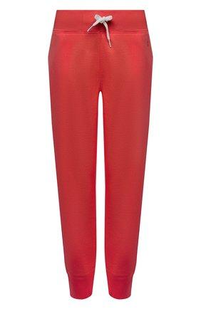 Женские хлопковые джоггеры POLO RALPH LAUREN красного цвета, арт. 211794397 | Фото 1