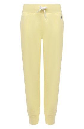 Женские хлопковые джоггеры POLO RALPH LAUREN желтого цвета, арт. 211794397 | Фото 1