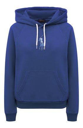 Женский хлопковое худи POLO RALPH LAUREN синего цвета, арт. 211838143 | Фото 1