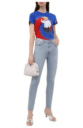 Женская хлопковая футболка POLO RALPH LAUREN синего цвета, арт. 211843249 | Фото 2