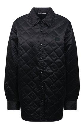 Женская стеганая куртка ACNE STUDIOS черного цвета, арт. CB0065/W | Фото 1 (Материал внешний: Синтетический материал; Длина (верхняя одежда): До середины бедра; Рукава: Длинные; Материал подклада: Синтетический материал; Стили: Спорт-шик; Кросс-КТ: Куртка)