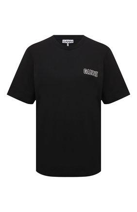 Женская футболка GANNI черного цвета, арт. T2917   Фото 1