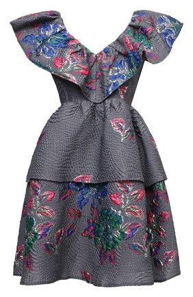 Женское платье GANNI серого цвета, арт. F6080   Фото 1