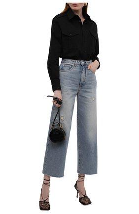 Женская хлопковая рубашка RALPH LAUREN черного цвета, арт. 290850854 | Фото 2 (Длина (для топов): Стандартные; Рукава: Длинные; Материал внешний: Хлопок; Стили: Спорт-шик; Принт: Без принта; Женское Кросс-КТ: Рубашка-одежда)