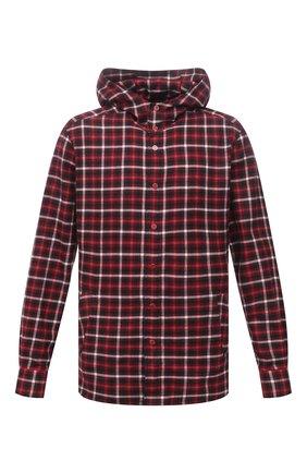 Мужская хлопковая рубашка KITON красного цвета, арт. UMCMARH0787102 | Фото 1