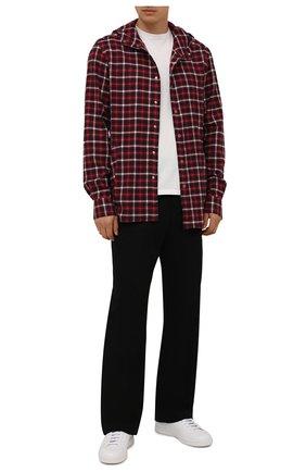 Мужская хлопковая рубашка KITON красного цвета, арт. UMCMARH0787102 | Фото 2