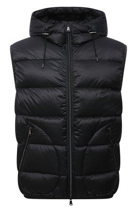 Мужской пуховый жилет RALPH LAUREN черного цвета, арт. 790774257 | Фото 1 (Материал подклада: Синтетический материал; Длина (верхняя одежда): Короткие; Материал утеплителя: Пух и перо; Материал внешний: Синтетический материал; Кросс-КТ: Куртка, Пуховик; Стили: Кэжуэл)
