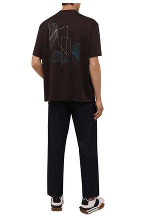 Мужская хлопковая футболка Z ZEGNA темно-коричневого цвета, арт. VY372/ZZ651D | Фото 2