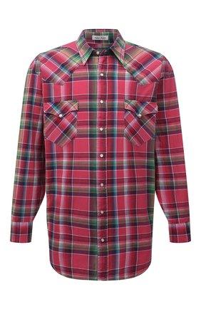 Мужская хлопковая рубашка POLO RALPH LAUREN розового цвета, арт. 711835520/5341/PRL BS | Фото 1
