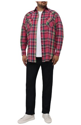 Мужская хлопковая рубашка POLO RALPH LAUREN розового цвета, арт. 711835520/5341/PRL BS | Фото 2