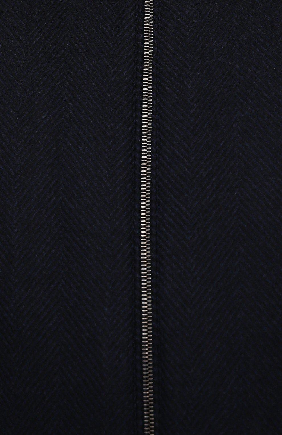 Мужской бомбер с меховой отделкой CANALI темно-синего цвета, арт. 040656P/SG02120   Фото 5 (Кросс-КТ: Куртка; Big sizes: Big Sizes; Мужское Кросс-КТ: шерсть и кашемир; Материал внешний: Шерсть; Рукава: Длинные; Принт: Без принта; Стили: Классический; Материал подклада: Синтетический материал; Длина (верхняя одежда): Короткие)