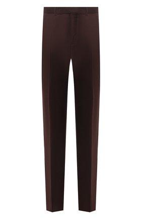 Мужские шерстяные брюки ERMENEGILDO ZEGNA коричневого цвета, арт. 228F07/75SB12   Фото 1
