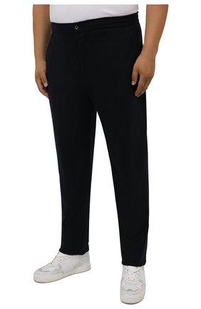 Мужские кашемировые брюки MARCO PESCAROLO темно-синего цвета, арт. CHIAIAM/ZIP+RIS/4442 | Фото 3 (Big sizes: Big Sizes; Материал внешний: Шерсть, Кашемир; Длина (брюки, джинсы): Стандартные; Случай: Повседневный; Стили: Кэжуэл)