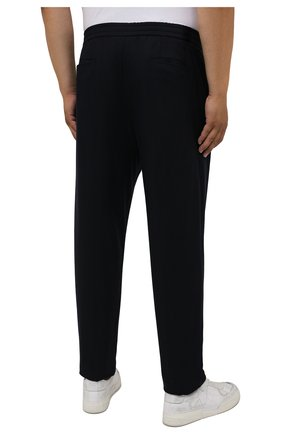Мужские кашемировые брюки MARCO PESCAROLO темно-синего цвета, арт. CHIAIAM/ZIP+RIS/4442 | Фото 4 (Big sizes: Big Sizes; Материал внешний: Шерсть, Кашемир; Длина (брюки, джинсы): Стандартные; Случай: Повседневный; Стили: Кэжуэл)