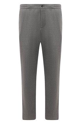 Мужские кашемировые брюки MARCO PESCAROLO серого цвета, арт. CHIAIAM/ZIP+RIS/4442 | Фото 1 (Материал внешний: Шерсть, Кашемир; Длина (брюки, джинсы): Стандартные; Случай: Повседневный; Стили: Кэжуэл; Big sizes: Big Sizes)