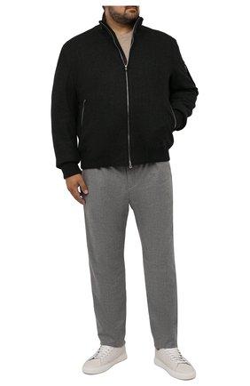 Мужские кашемировые брюки MARCO PESCAROLO серого цвета, арт. CHIAIAM/ZIP+RIS/4442 | Фото 2 (Материал внешний: Шерсть, Кашемир; Длина (брюки, джинсы): Стандартные; Случай: Повседневный; Стили: Кэжуэл; Big sizes: Big Sizes)