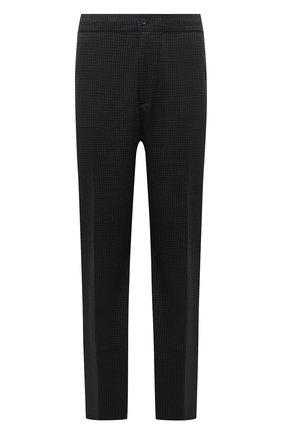 Мужские шерстяные брюки MARCO PESCAROLO темно-серого цвета, арт. CHIAIAM/ZIP+RIS/4426 | Фото 1 (Big sizes: Big Sizes; Материал внешний: Шерсть; Длина (брюки, джинсы): Стандартные; Случай: Повседневный; Стили: Кэжуэл)