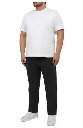 Мужские шерстяные брюки MARCO PESCAROLO темно-серого цвета, арт. CHIAIAM/ZIP+RIS/4426 | Фото 2 (Big sizes: Big Sizes; Материал внешний: Шерсть; Длина (брюки, джинсы): Стандартные; Случай: Повседневный; Стили: Кэжуэл)
