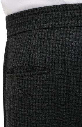 Мужские шерстяные брюки MARCO PESCAROLO темно-серого цвета, арт. CHIAIAM/ZIP+RIS/4426 | Фото 5 (Big sizes: Big Sizes; Материал внешний: Шерсть; Длина (брюки, джинсы): Стандартные; Случай: Повседневный; Стили: Кэжуэл)