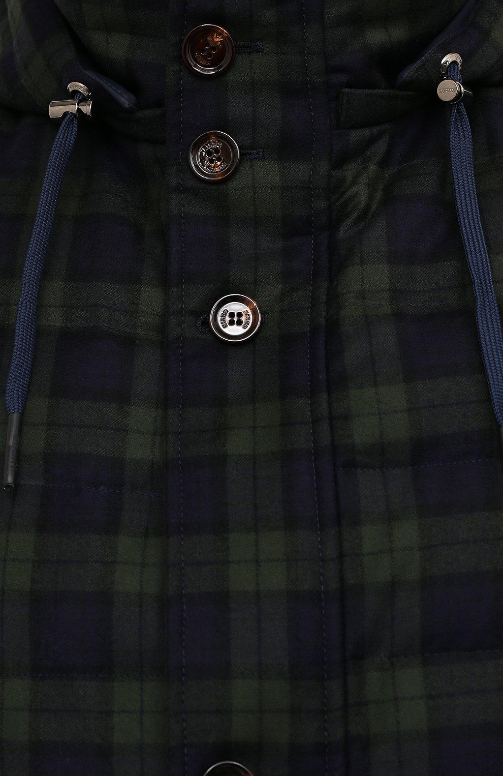Мужской пуховый жилет KIRED темно-зеленого цвета, арт. WKISHBW7406502000/62-74   Фото 5 (Кросс-КТ: Куртка, Пуховик; Big sizes: Big Sizes; Материал внешний: Шерсть; Материал подклада: Синтетический материал; Длина (верхняя одежда): Короткие; Материал утеплителя: Пух и перо; Стили: Кэжуэл)