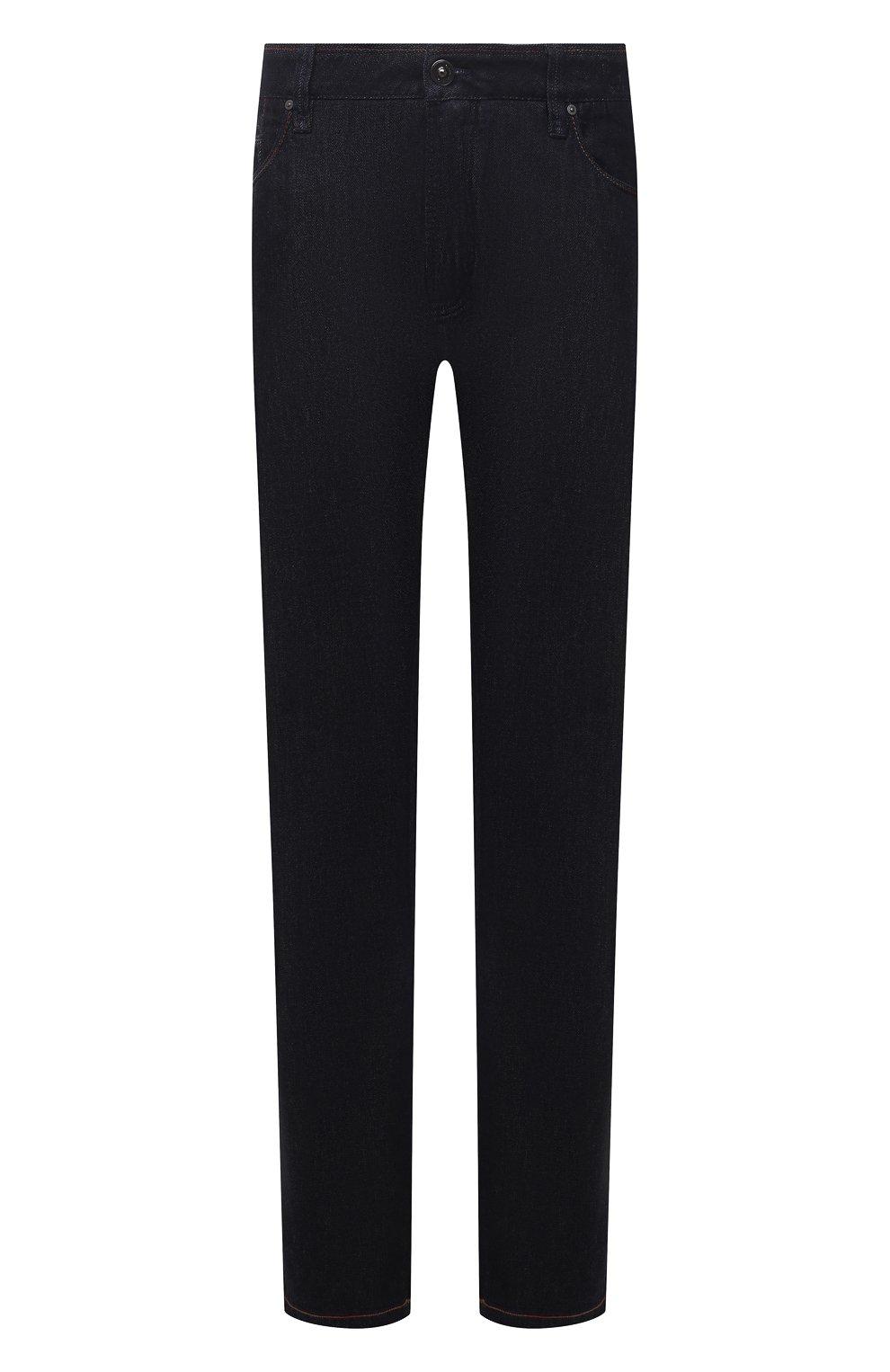 Мужские джинсы CORTIGIANI темно-синего цвета, арт. 213501/S409/0000/4950/60-70 | Фото 1 (Big sizes: Big Sizes; Силуэт М (брюки): Прямые; Кросс-КТ: Деним; Длина (брюки, джинсы): Стандартные; Материал внешний: Хлопок; Стили: Классический)