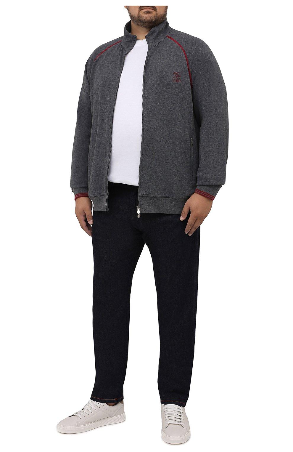 Мужские джинсы CORTIGIANI темно-синего цвета, арт. 213501/S409/0000/4950/60-70 | Фото 2 (Big sizes: Big Sizes; Силуэт М (брюки): Прямые; Кросс-КТ: Деним; Длина (брюки, джинсы): Стандартные; Материал внешний: Хлопок; Стили: Классический)