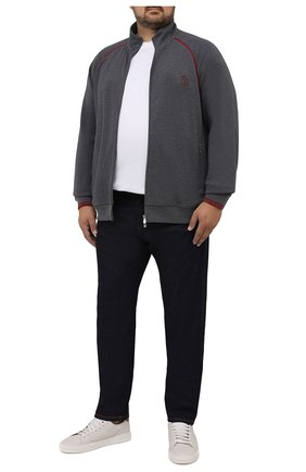 Мужские джинсы CORTIGIANI темно-синего цвета, арт. 213501/S409/0000/4950/60-70 | Фото 2