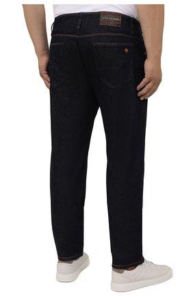 Мужские джинсы CORTIGIANI темно-синего цвета, арт. 213501/S409/0000/4950/60-70 | Фото 4 (Big sizes: Big Sizes; Силуэт М (брюки): Прямые; Кросс-КТ: Деним; Длина (брюки, джинсы): Стандартные; Материал внешний: Хлопок; Стили: Классический)