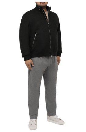 Мужской шерстяной бомбер CORTIGIANI темно-серого цвета, арт. 218605/0000/60-70 | Фото 2