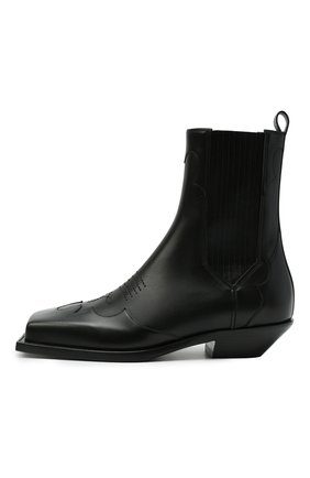 Мужские кожаные казаки BALMAIN черного цвета, арт. WM1TA269/LGDT | Фото 3 (Материал внутренний: Натуральная кожа; Мужское Кросс-КТ: Казаки-обувь, Сапоги-обувь; Подошва: Плоская)