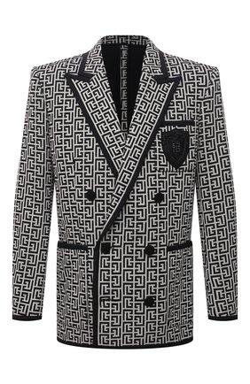 Мужской хлопковый пиджак BALMAIN бежевого цвета, арт. WH1SI071/982J | Фото 1