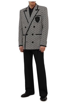 Мужской хлопковый пиджак BALMAIN бежевого цвета, арт. WH1SI071/982J | Фото 2