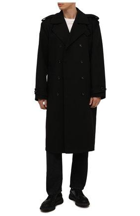 Мужские комбинированные дерби DOUCAL'S черного цвета, арт. DU2523ST0CPT5512N00 | Фото 2 (Материал внутренний: Текстиль; Стили: Классический; Мужское Кросс-КТ: Броги-обувь)