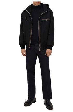Мужские кожаные ботинки DOUCAL'S темно-синего цвета, арт. DU2654ED0-UM023NB02 | Фото 2 (Материал утеплителя: Натуральный мех; Подошва: Плоская; Мужское Кросс-КТ: Ботинки-обувь, зимние ботинки)