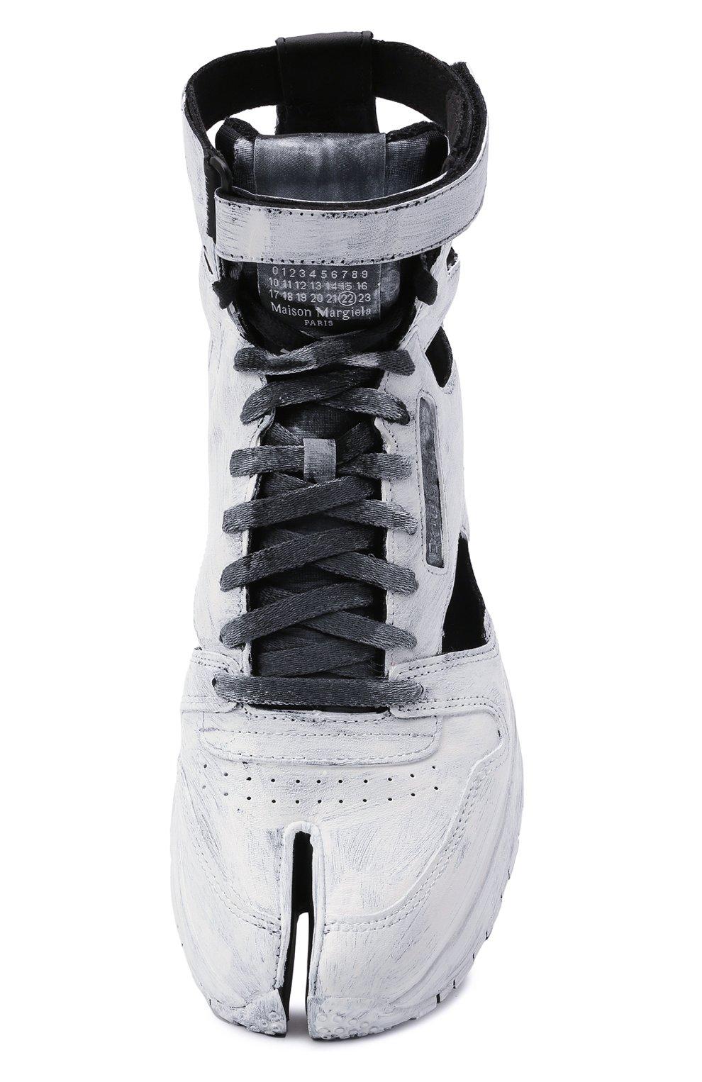 Мужские кроссовки tabi maison margiela x reebok classic MAISON MARGIELA белого цвета, арт. S37WS0569/P4242 | Фото 5 (Стили: Гранж; Материал внутренний: Текстиль; Подошва: Массивная)