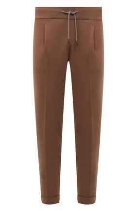 Мужские шерстяные брюки ELEVENTY светло-коричневого цвета, арт. D71PAND01 MAG24012 | Фото 1 (Материал внешний: Шерсть; Длина (брюки, джинсы): Стандартные; Случай: Повседневный; Стили: Кэжуэл; Мужское Кросс-КТ: Брюки-трикотаж)