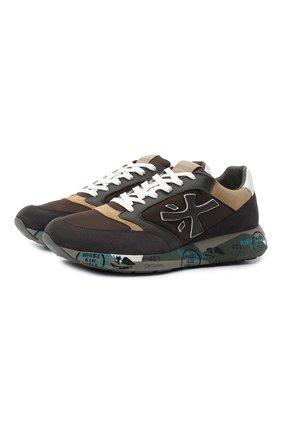 Мужские комбинированные кроссовки zac-zac PREMIATA коричневого цвета, арт. ZACZAC/VAR5368 | Фото 1
