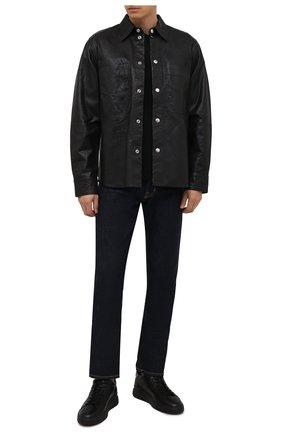 Мужские кожаные кеды HOGAN черного цвета, арт. HXM5800DV42Q3L | Фото 2