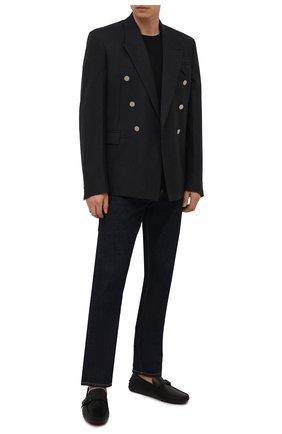 Мужские кожаные мокасины TOD'S черного цвета, арт. XXM64C0E050D90 | Фото 2
