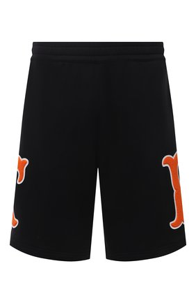 Мужские хлопковые шорты BURBERRY черного цвета, арт. 8042700 | Фото 1